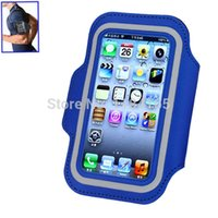 Wholesale Iphone Sport Case Strap - Wholesale-Stylish Gym Sports Armband Pouch Case Arm Strap with Holder for iPhone 5   5S   5C