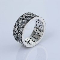 Wholesale Wedding Rings Made Silver - Rings Jewelry 100% 925 Sterling Silver Leaves CZ Rings for Women DIY Jewelry Making Wedding Rings SR166