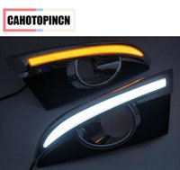 Wholesale Led Daytime Captiva - Turn Signal & turn off style Relay 12V Car LED DRL Daytime Running Light with fog lamp hole for Chevrolet Captiva 2011 2012 2013