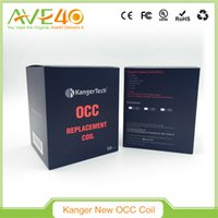 Wholesale Kanger Wholesale Coil Usa - USA new Kanger OCC Coils Organic Cotton Replacement Subtank OCC Coil heads SUB ohm coil 0.5ohm 1.2ohm 1.5ohm for