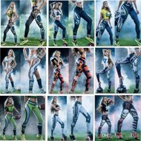 Wholesale Galaxy Active - Newest Fashion Womens 3D Galaxy Printed Leggings For Women Workout Leggings Yoga Stretch Tights Sport Rugby Leggings 4540