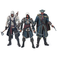 Wholesale Assassins Creed Connor Toy - 18 cm New Assassins Creed 4 Edward Kenna Heythan Kenw Connor Collection Model PVC Cartoon Figures