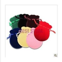Wholesale Assorted Color Wholesale Plastic Bags - Free Shipping Small Bag 100Pcs 7x9cm Assorted Color Gourd Velvet Drawstring Pouch Bag Jewelry Bag,Christmas Wedding Gift Bag