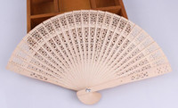 Wholesale hand hold fans - New Chinese Aromatic Wood Pocket Folding Hand Held Fans Elegent Home Decor Party Favors
