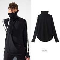 Wholesale New Stylish High Tops - Vintage 2018 New Spring Men Tshirts Fashion Stylish High Street GD Cotton T-shirts Long Sleeved Bottoming Tops