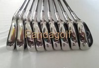 Wholesale golf clubs left hand - Left Handed Golf Irons X2 HOT Clubs #456789PAS with graphite shaft   steel shaft golf clubs X2 HOT PRO irons set With headcover