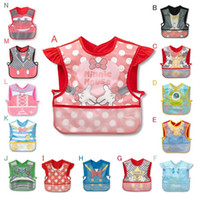 Wholesale Cowboy Bib - Wholesale 14 Style New Girls Boys Infant Toddler Bib Cute Cowboy Feeding Bibs For Party Blue 10 pcs Lot Free shipping