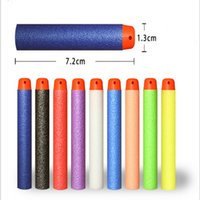 Wholesale Dart Gun Toys For Children - 10PCs Soft Hollow Hole Head 7.2cm Refill Darts Toy Gun Bullets for Nerf Series Blasters Xmas Kid Children Gift