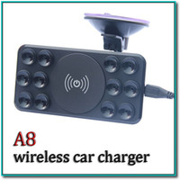Wholesale Wireless Cell Phone Car Charger - 2016 hot Q1 wireless charger car charger kit with Q1 wireless pad and car charger plug with retail packa for smart cell phone