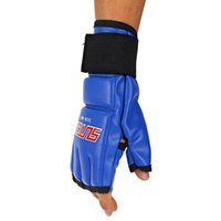 Wholesale Ultimate Glove - SUTEN 4 Colors One Pair PU Leather Half Finger Sport Fitness Boxing Sandbag Glove Boxing Punch Ultimate Mitts Fingerless Gloves