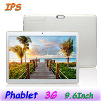Wholesale tablet 3g 9.6 resale online - MTK6580 Quad Core G Dual SIM Phablet K960 Android4 quot IPS Phone Call Tablet Bluetooth Webcams GB GB Free Leather Case