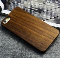 capa móvel de madeira venda por atacado-Artesanato de madeira personalizado padrões de escultura em madeira phone case para iphone 6 6s mobile phone case capa