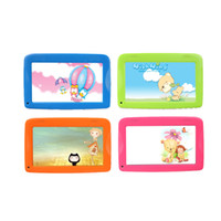 четырехъядерный планшет оптовых-7 дюймов дети дети планшетный ПК Q18 Quad Core Android 4.4 Wifi 8G ROM 1024 * 600 4 цветов на складе обратно в школу