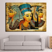 Venda Por Atacado New Arrival Ancient Egyptian Sphinx Unframed Home Decoration Paintings Modern Abstract Wall Painting envio gratuito