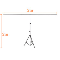 Wholesale backdrop clamps photography resale online - Freeshipping Photography Backdrop Background Support Stand System Metal with clamps cm X cm