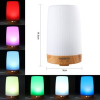 Wholesale Diffuser Shade - 100ml-300ml Wood Grain Aromatherapy Essential Oil Diffuser with 7 Color shades, Wooden Aroma Humidifier, Wood Grain Aroma Diffuser