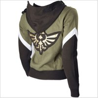 ingrosso i costumi cosplay di link zelda-Giacca The Legend of Zelda Skyward Link Hyrule Seal Cosplay con cappuccio