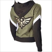 zelda link cosplay kostüme großhandel-Großhandel-Die Legende von Zelda Skyward Link Hyrule Seal Cosplay Hoodie Jacke
