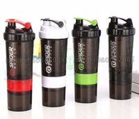 Wholesale Tea Shaker - New Spider protein shaker 3 in 1 Sports water bottle with inserted mixing ball 6 Color 1521 500ml MYY