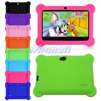 Wholesale Silicon Case Android Tablet Pc - Heavy Duty Drop Resistance Soft Silicone Protective Case For Q88 Q8 A33 Android Tablet PC