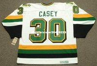 commercio all'ingrosso personalizzato Throwback Mens JON CASEY Minnesota North Stars 1989 CCM Vintage Home Cheap Retro Hockey Jersey