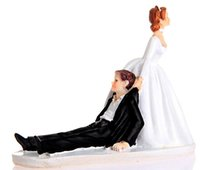 Wholesale Happy Bride - Happy Bride & Groom Cake Topper Wedding Topper Wedding Gift Cake Topper Wedding Cake Decorations 2016 June Style