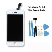 Wholesale Lcd Screen White For Sale - 2017 Hot sale Replacement Screen LCD For iPhone 5s Display With Digitizer Touch Screen Assembly Grade AAA In Black White Tools Free shipping