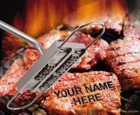 ingrosso padre di ferro-Lustrascarpe in ferro battuto a mano con 55 lame personalizzabili per personalizzare la bistecca | Festa del papà H210297