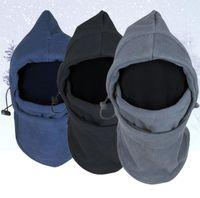 schädel gesicht großhandel-Neue Ankunfts-Gesichtsmaske Thermal Fleece Balaclava Hood Swat Bike winddicht und Sand-Beweis-Stopper Hüte Caps Skullies Beanies