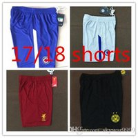 Wholesale U Shorts - 2017 Real Madrid Shorts soccer jerseys 17 18 DYBALA MORATA MARCHISIO RONALDO ALVES POGBA man u city all Club Top Quality al Shorts