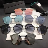 Wholesale femme mirror - 2017 New arrival high quality designer brand women sunglasses men sun glasses luxury steampunk sunglass lunette de soleil femme