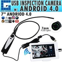Usb Videokamera Für Borescope Kaufen -C0598AM USB Video Inspektion Borescope Endoskop / 830mm Flexible Tube 7mm wasserdichte Kamera Kopf mit 7 Zoll Android Monitor