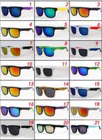 Wholesale Glass Lens Sunglasses Cheap - Brand new Designer Ken Block Helm Sunglasses Multicolour Coating Lens Men Oculos De Sol Sun Glasses 21 Colors Cheap eyewear