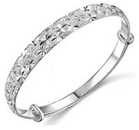 brazalete brazalete pulsera plata 925 al por mayor-Joyería de calidad superior 925 de plata de ley pulseras plateadas pulsera de la marca Brazalete encanto de la estrella de las mujeres de la venta caliente envío