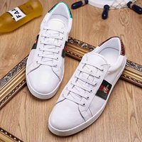 Wholesale Bees Lighting - Italian luxury men's casual shoes big brand light shoes men's size 38-44 white fashion bees leather embroidery breathable wear-resistant wea