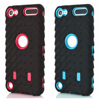 Wholesale hard plastic tire for sale - Tire tyre Vroom Hard PC Plastic Soft Hybrid Layer Case For Ipod Touch G th th Ipod6 Ipod5 Dual Color Car Tire Shockproof Skin