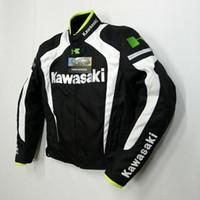 moto racing ropa al por mayor-nuevo estilo kawasaki transpirable Running chaquetas / chaquetas de moto / chaquetas de carrera / caballero off-road chaquetas / ropa de la motocicleta a prueba de viento k-4