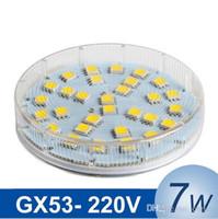 Wholesale Lamp G53 - GX53 LED Cabinet Bulb SMD 5050 7W LED Lamp Light AC 220V 230V 240V High brightness Lampada LED Spotlight Lamps