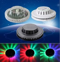 Girassol LED Light Magic 7 cores auto ativado por voz LED RGB Stage Light para Disco Stage home party