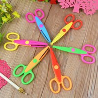 Compra Forbici Di Carta Decorativa-All'ingrosso-1Pc Craft bordo decorativo cucito Forbici del pettine ondulate Pinking carta Shear
