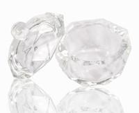 acrylnagel rund großhandel-Acryl Kristallglas Dappen Dish Bowl Cup mit Cap Liquid Glitter Pulver Kaviar Nail Art Tool Runde
