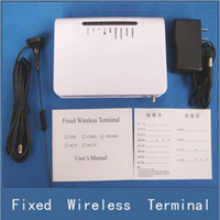 Wholesale Fix Gsm - 2017 New GSM Gateway Fixed Wireless Terminal For Sim Card Connect Home Desk Phone Line Burglar Alarm System to Make Phone Call