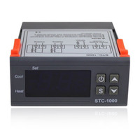 Wholesale Thermostat Ac - Digital Temperature Controller STC-1000 LCD Thermostat Regulator w  Sensor AC 110V 220V 24V 12V Universal -50-99 Degree Controllers