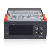 evrensel düzenleyici toptan satış-Dijital Sıcaklık Kontrol STC-1000 LCD Termostat Regülatörü w / Sensör AC 110 V 220 V 24 V 12 V Evrensel-50-99 Derece Kontrolörleri