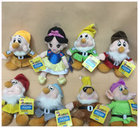 "Wholesale Seven Dwarfs Plush Wholesale - Hot Sale 8 pcs set 8'' The Snow White Princess and 8"" Seven Dwarfs Soft plush Doll Toys For Baby Gifts"