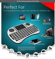 Wholesale Bluetooth Keyboard Keypad - RII I8 Remote Fly Air Mouse mini Keyboard Combo Wireless 2.4G Touchpad Keypad For MXQ MXIII MX3 M8 CS918 M8S Bluetooth TV BOX Black White