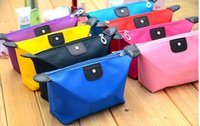 Wholesale Nylon Makeup Purse - candy color Travel Makeup Bags Women's Lady Cosmetic Bag Pouch Clutch Handbag Hanging Jewelry Casual Purse