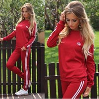 Wholesale hot sexy yoga pants for sale - Hot Sale Women Sexy Tracksuits Set Tops Pant Sets Fashion Woman Sport Clothing Long Sleeve Casual Tracksuit Sports Clothes