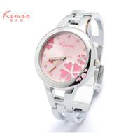 Wholesale Kimio Brand For Watch - 2017 New KIMIO Women Watch Famous Brand Ladies Fashion Stainless Steel Bracelet Quartz Watch Female Lucky Wrist Watch For Women