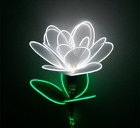 Wholesale Product Neon - Luminous Rave Custom Glowing Product EL Wire Flash Flower Neon Cold Lights Holiday Party Lighting Decoration
